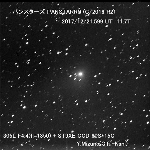 12/21 217P,以下 11彗星、1接近小惑星 ・水野義兼: 星の広場 HAL-News